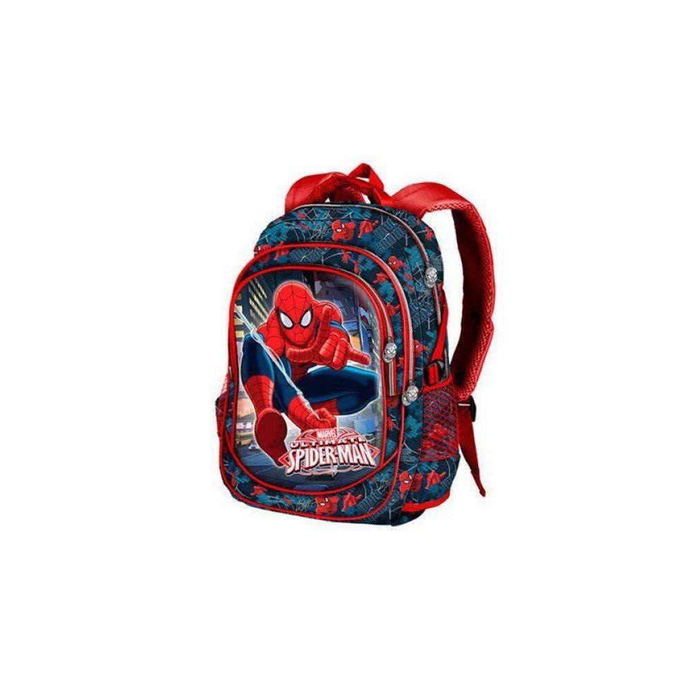 Mochila Spiderman Marvel Wall Crawler doble bolsillo grande
