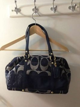 Coach D0826 12551 Blue Bag - Satchel $182
