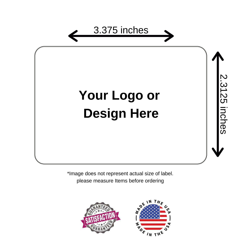 3 3 X 2 3 Inch Round Corner Rectangle Sticker Label Full Color Printing Product Label Custom Sticker By Procolor Custom Stickers Sticker Labels Custom Quotes