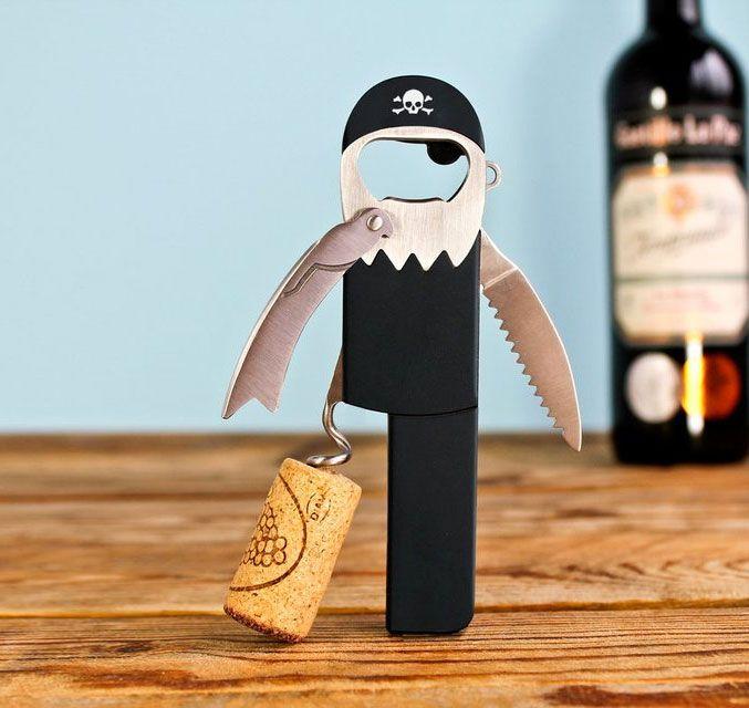 Legless Pirate Corkscrew Bottle Opener