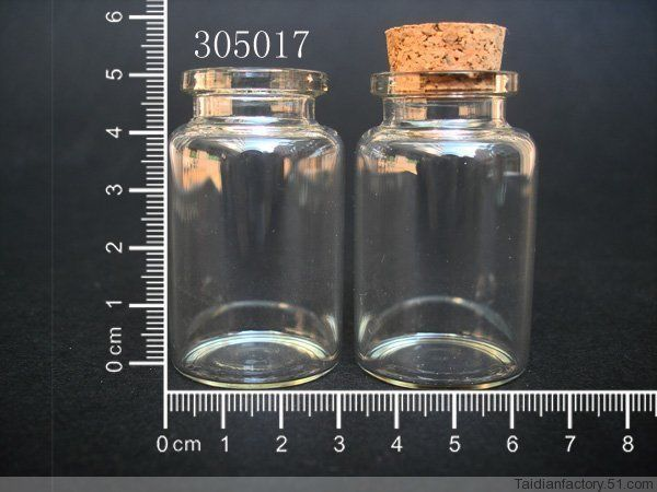 3 pcs 2ml Corked Bottles of Silver Flake