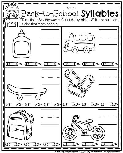 Back To School Kindergarten Worksheets Teacher Pinterest