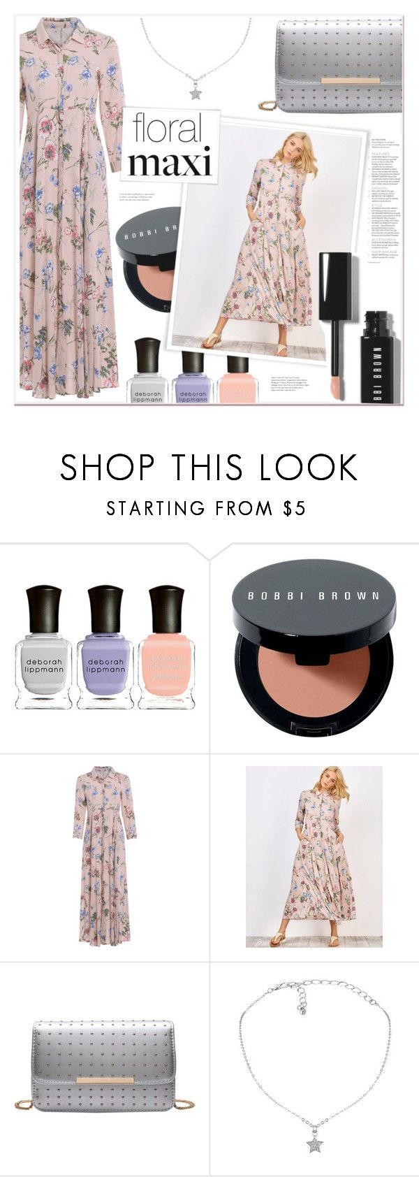 """""""Floral Maxi"""" by mycherryblossom ❤ liked on Polyvore featuring Deborah Lippmann and Bobbi Brown Cosmetics"""
