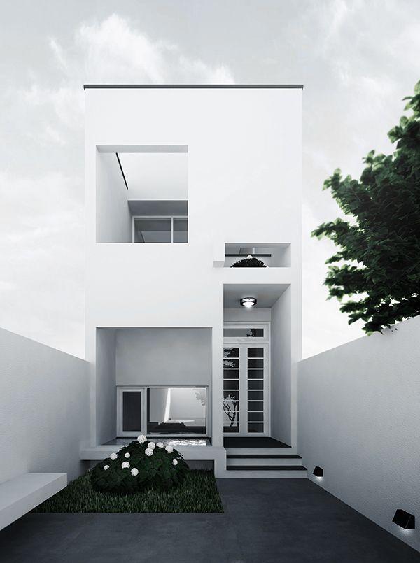 private house on behance town house pinterest moderne h user architektur und wohnideen. Black Bedroom Furniture Sets. Home Design Ideas