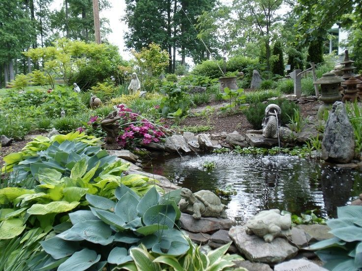 The scene and the sound of fountains for the garden lend a stylish ...