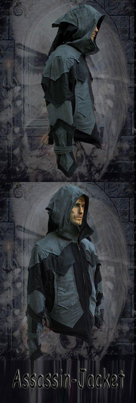 Assassin Assassin Jacket Veste Boutique Teuf Bleu Capuche Teufeur Homme ~ wwqdxrHv