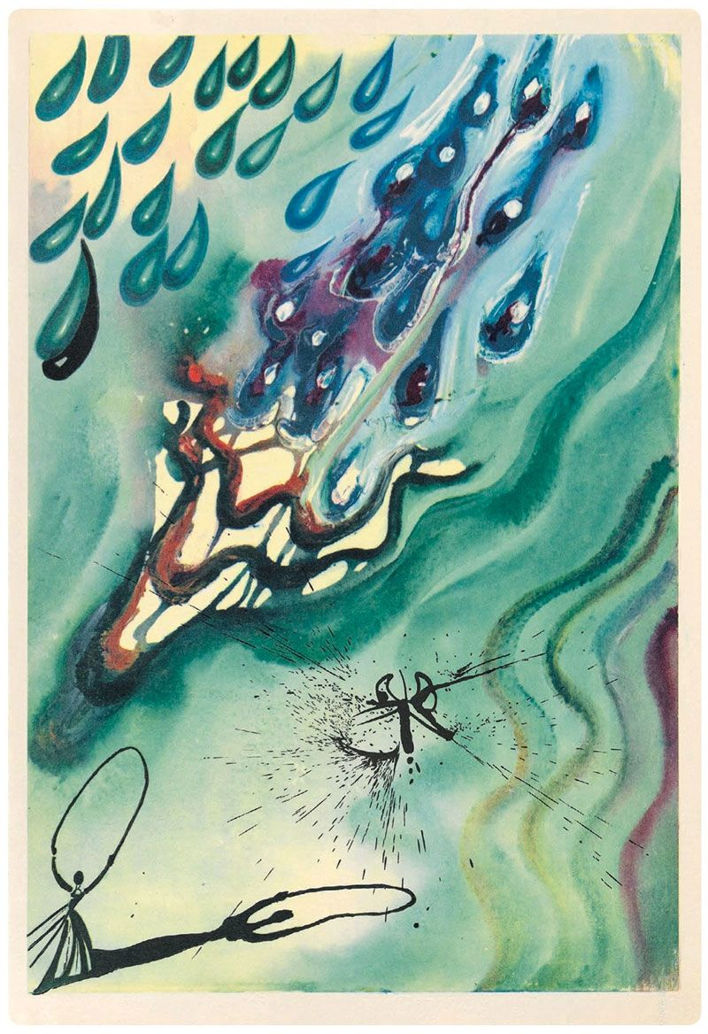 Alice in Wonderland illustrated by Salvador Dali