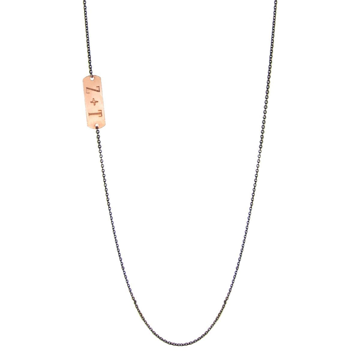 mixed long ID necklace