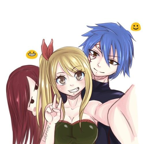 Jellal Erza and Lucy | ♡Fairy Tail★ | Pinterest ...