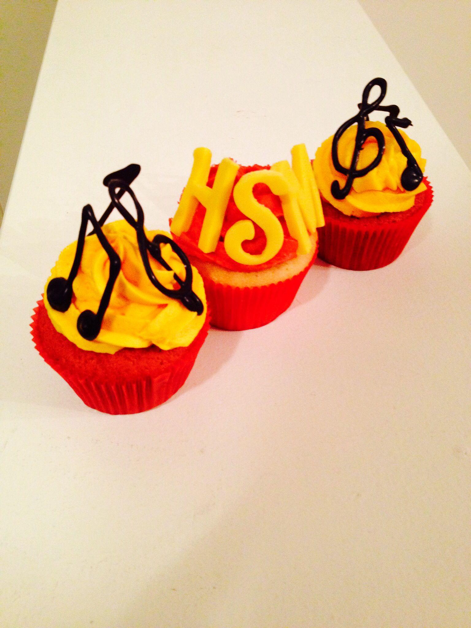 High School Musical Cupcakes hsm music Birthdays Pinterest