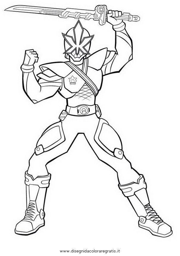 Gold Power Ranger Samurai Coloring Coloriage - AZ ...