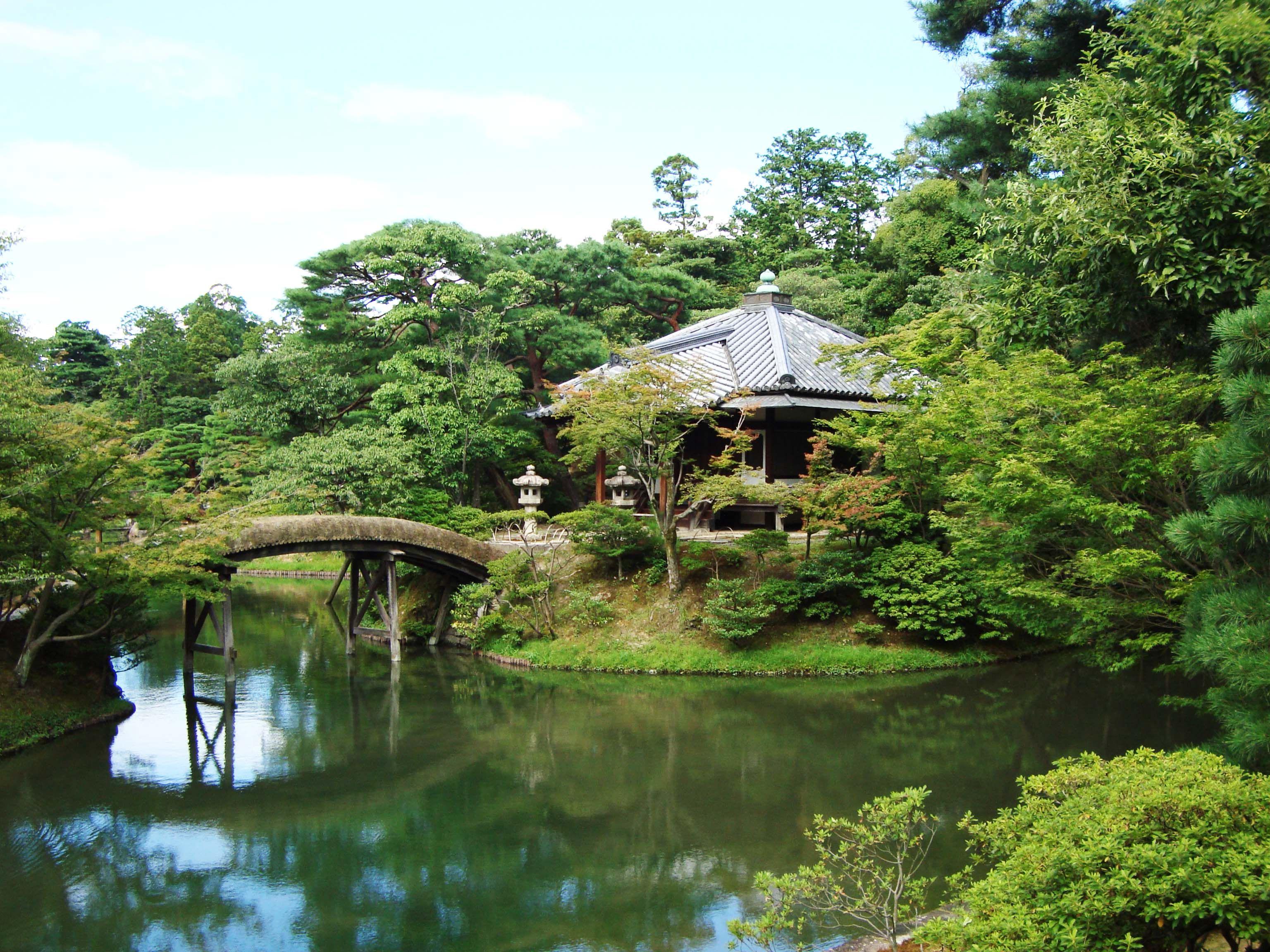 Kyoto, Japan, Katsura Imperial Villa Front Bridge