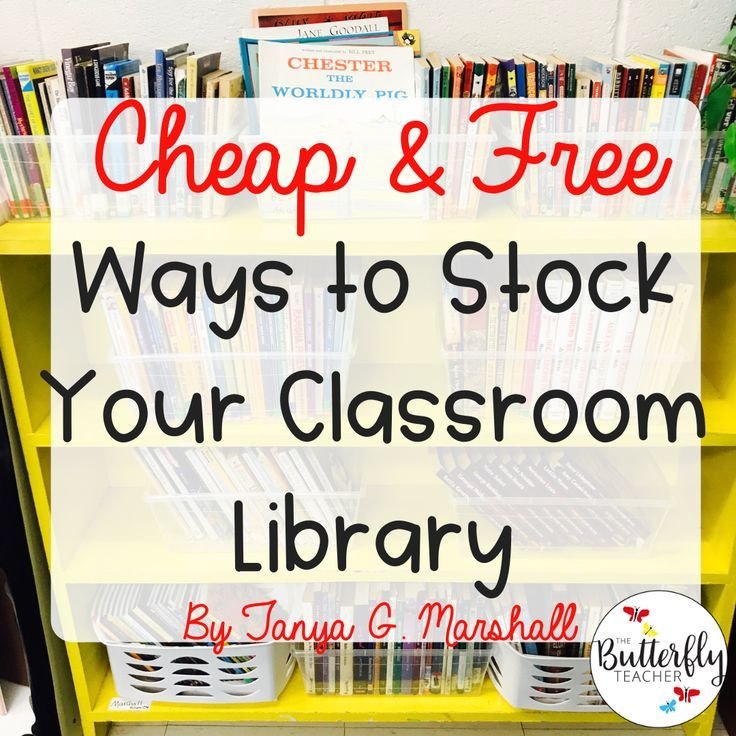 Cheap Ways To Stock Your Classroom Library
