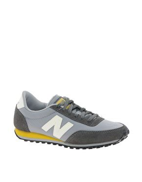 New Balance 410 Grey/ Yellow Trainers from Fash n Chips