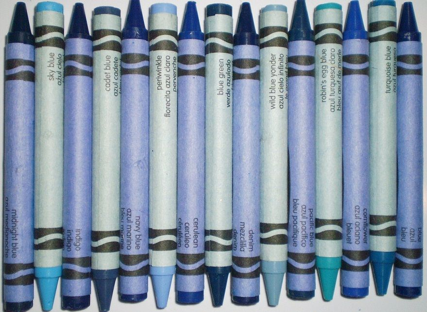 Shades of blue #crayons | Color: Blue | Pinterest | Crayons