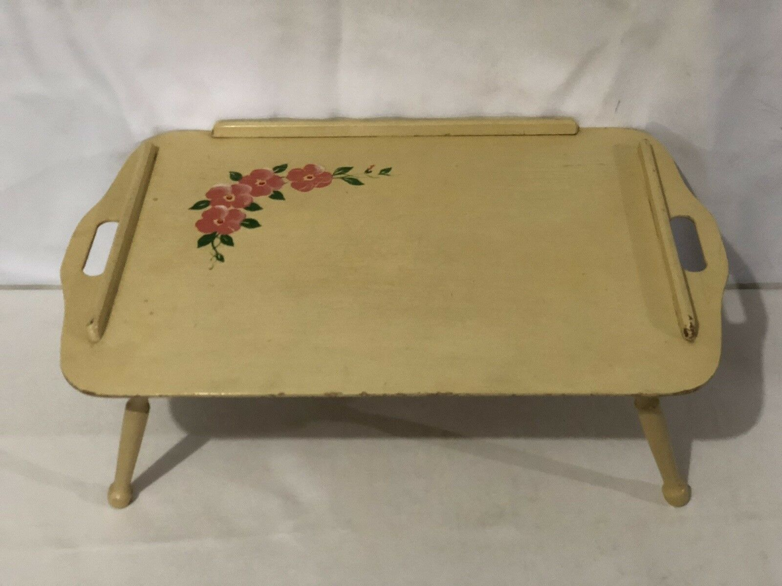 """Vintage Folding Bed Tray General Wood Products """"Golden"""