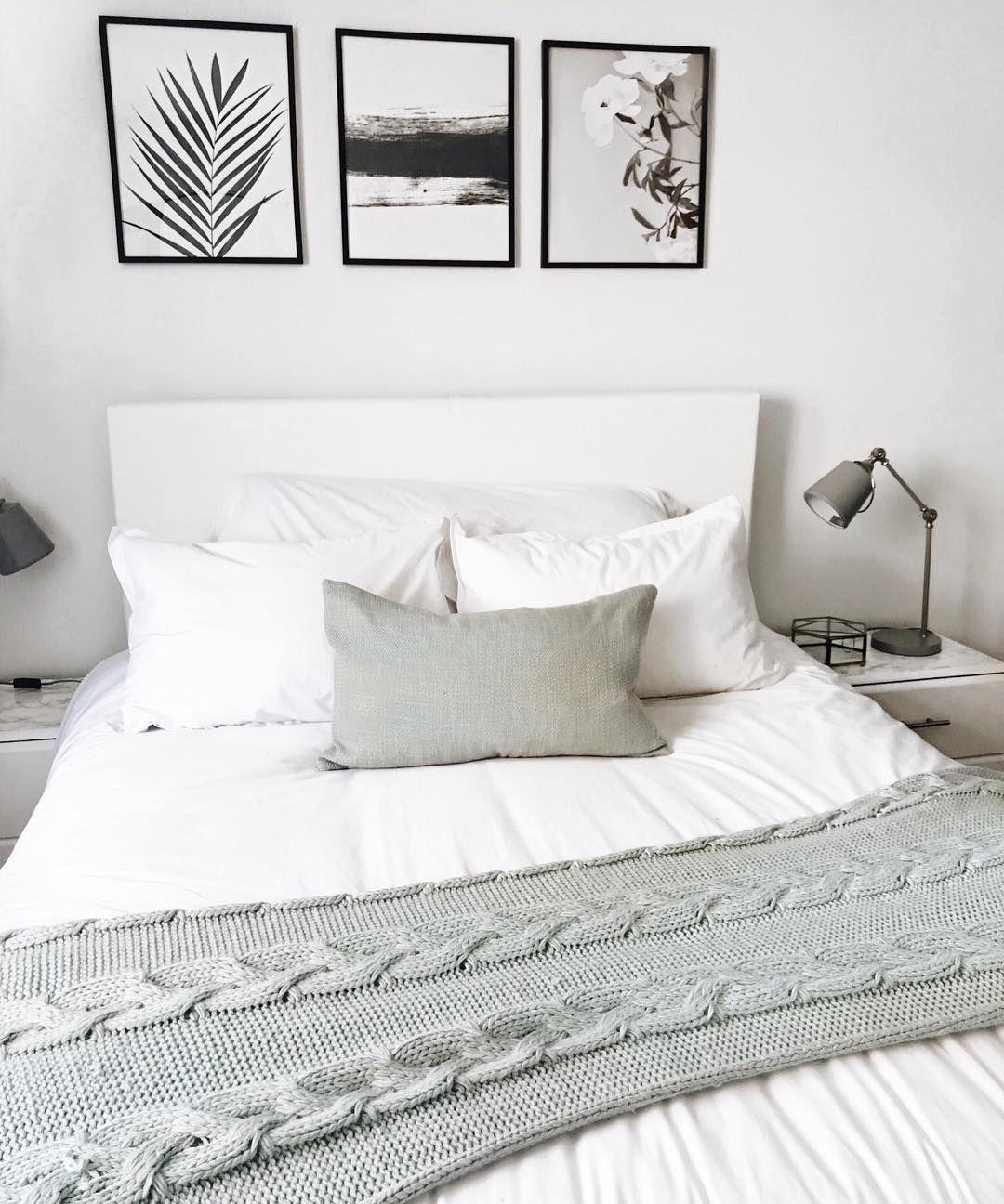 Bedroom decor white and gray decor diy home decor wall art