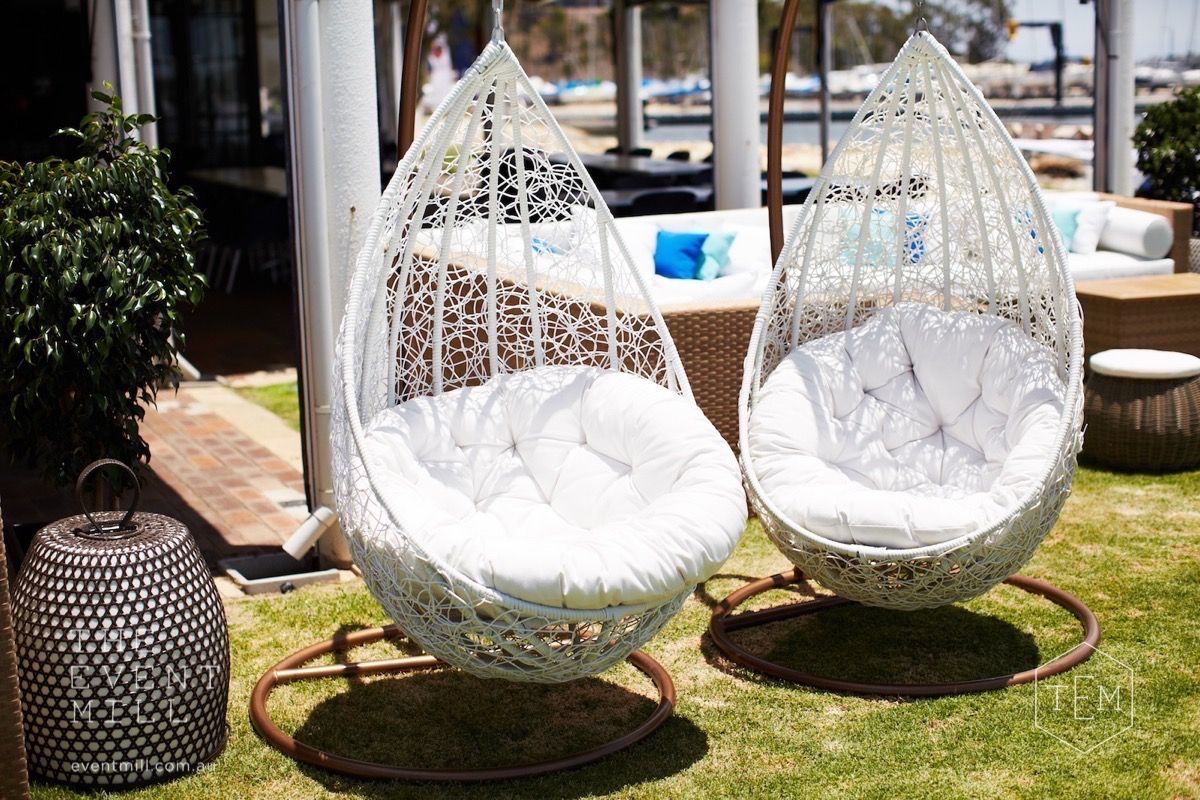 swing chair hire stools hanging egg chairs wedding furniture event classic rattan classy lounge lounging engagement