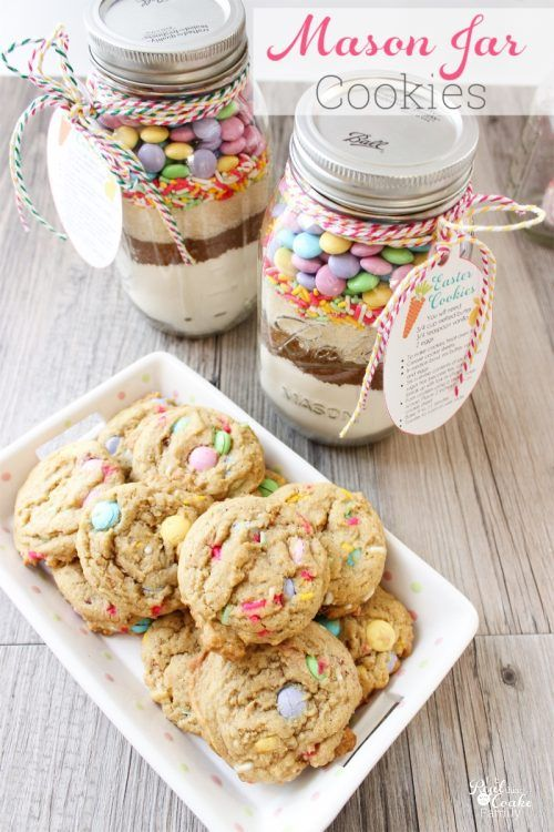 Easter mason jar cookie recipe with free printable tags easter easter mason jar cookie recipe with free printable tags negle Images
