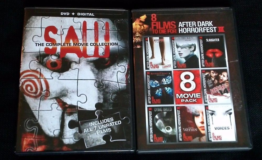 Saw 1 2 3 4 5 6 7 Dvd 8 Films To Die For Free Shipping