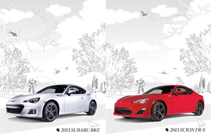 Subaru BRZ And Scion FRS A Study In Comparison And - Sports cars comparison