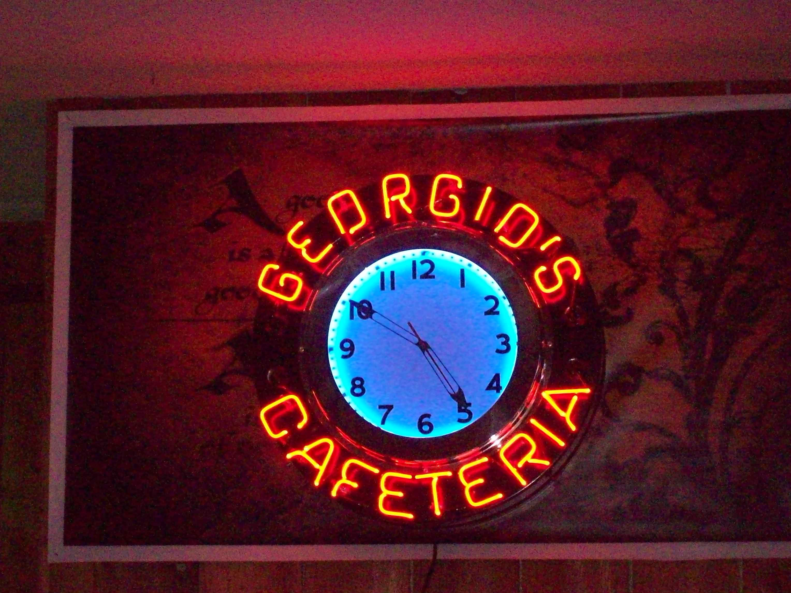 Custom Made Neon For Vintage Clock Body Vintage Clock Clock Neon Signs