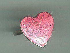 Vintage 80's Pink Heart Sparkle Princess Adjustable Ring $14.99