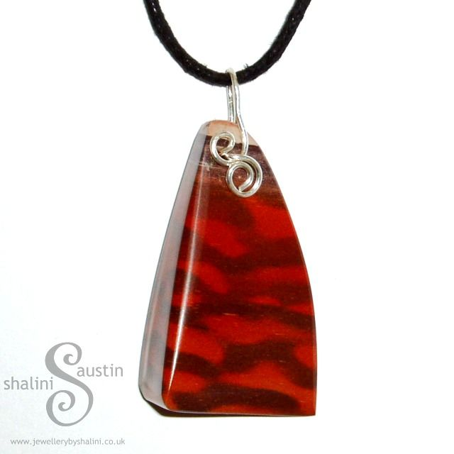 Printstone Pendant on Adjustable Cord from Jewellery By Shalini. Sold! Commissions and Bespoke Orders Welcome.