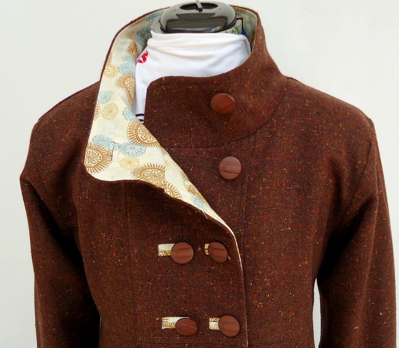 Womens Swing Coat in Corduroy Wool or Tweed Optional by SwingCoat ...