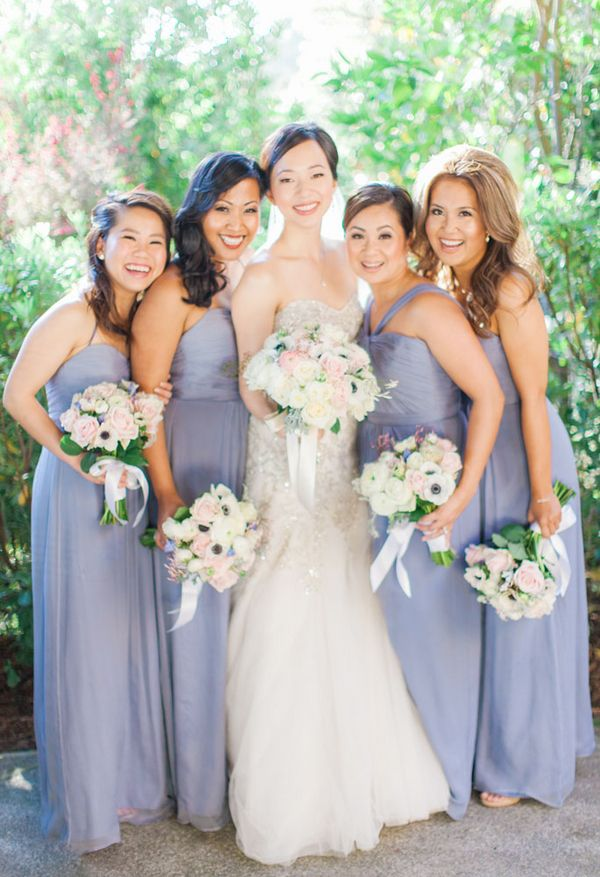 Bridesmaids in Lilac|{Lilac and Blush} Swoon-Worthy Napa Valley Wedding|Photographer: Clane Gessel Photography