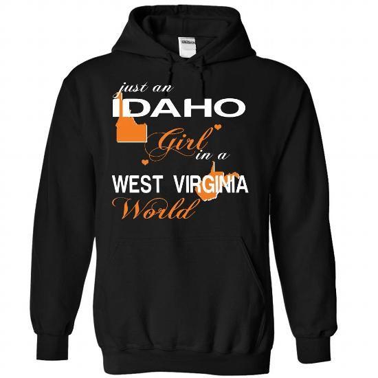 V3-IDAHO-WESTVIRGINIA girl - #cool gift #man gift. ADD TO CART => https://www.sunfrog.com/Valentines/V3-2DIDAHO-2DWESTVIRGINIA-girl-Black-Hoodie.html?68278