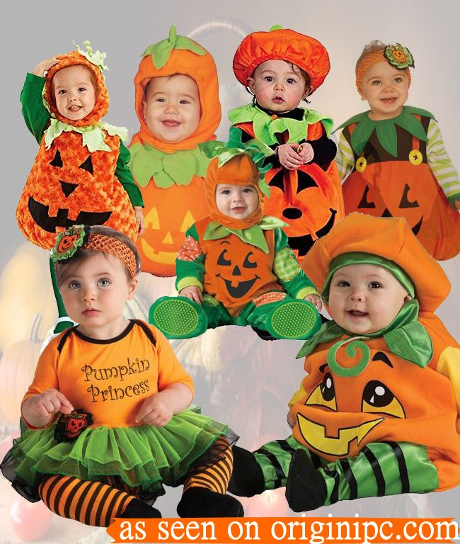 Best Infant Pumpkin Costume (With images) Twin halloween