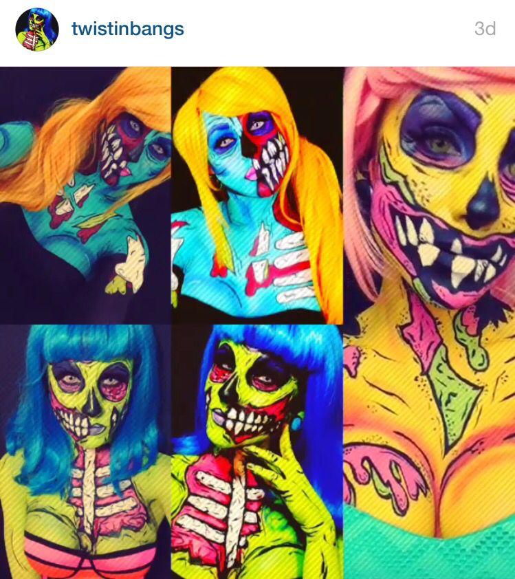 pop art zombie halloween amazing halloween makeup pop. Black Bedroom Furniture Sets. Home Design Ideas