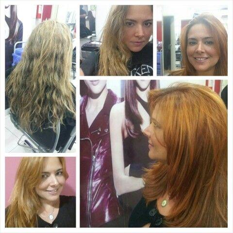Antes e depois - cabelos