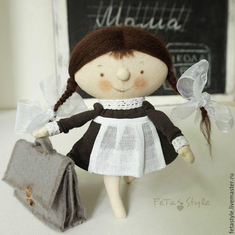 Купить Девочка и Портфель Школьница Кукла текстильная (резерв) - кукла малышка, маленькая кукла