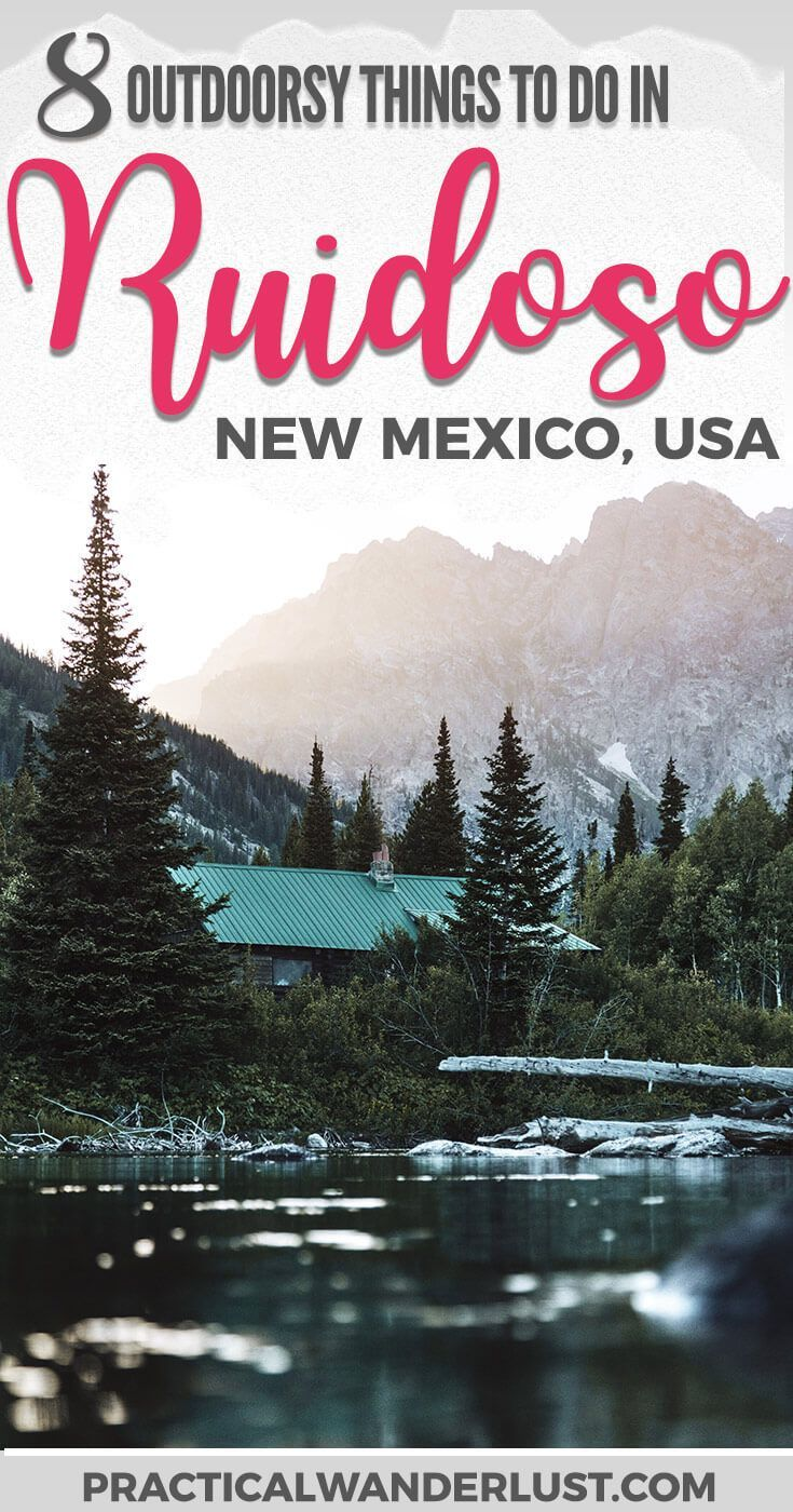 Ruidoso, New Mexico is an outdoor lover's paradise! This mountain town is a USA travel destination for anyone who loves adventure, hiking, camping, fishing, staying in cabins, mountains, and that yummy pine smell. Here are the best outdoorsy things to do