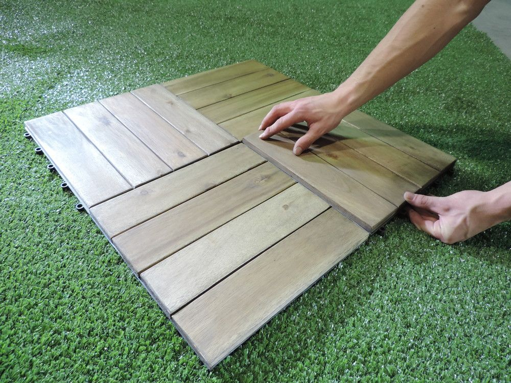 Snap Go Acacia Deck Tile