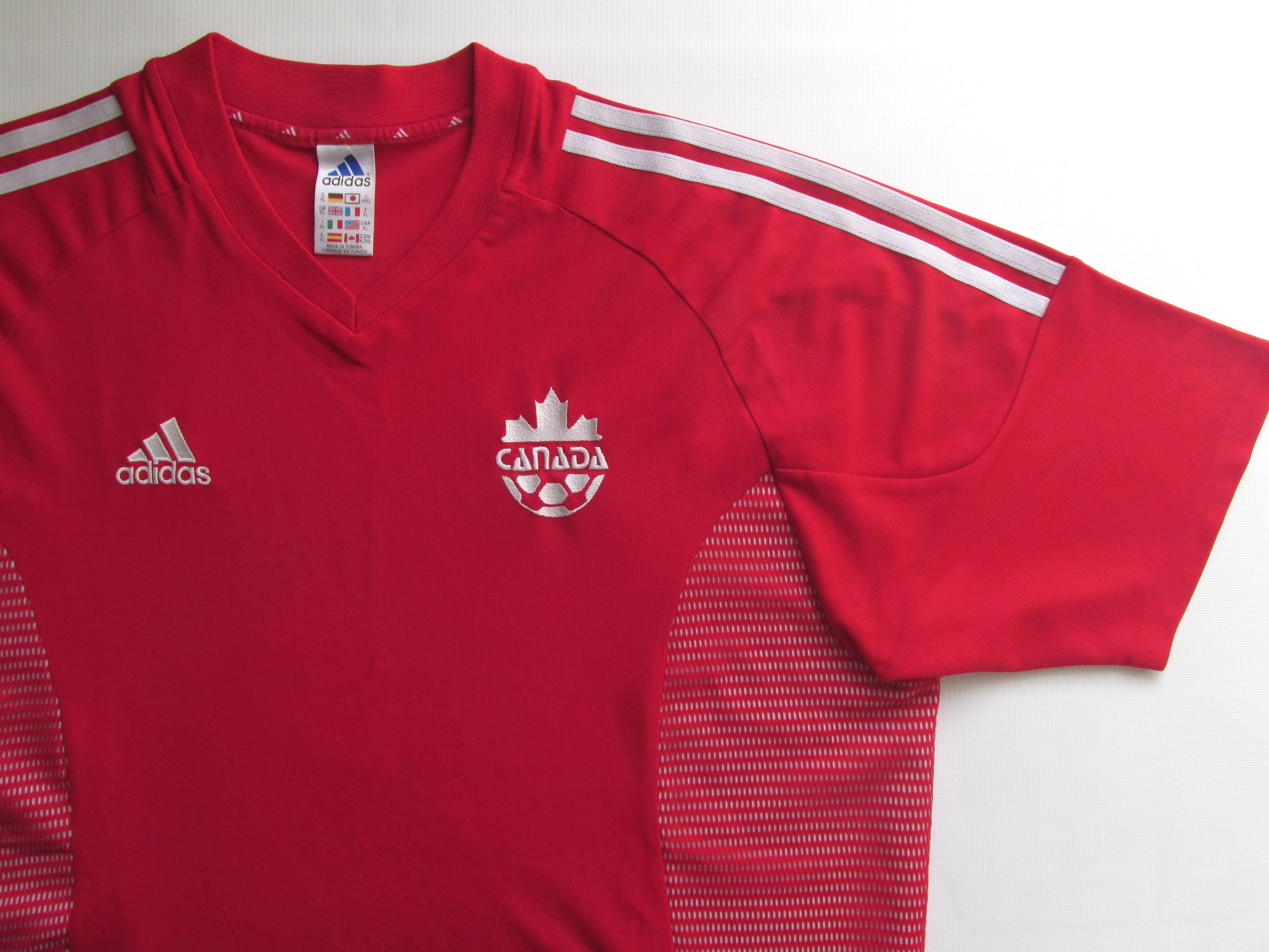 Canada 2002 2003 2004 Home Football Shirt Soccer Jersey Maillot Maglia Adidas Xl Football Shirts Soccer Jersey National Football Teams