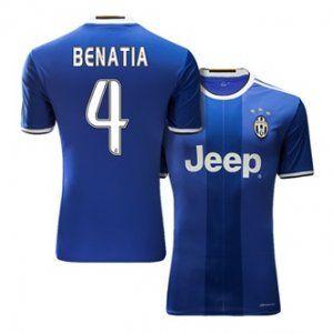 c5225febfb1 Juventus Away 16-17 Season Blue  4 BENATIA Soccer Jersey  H488 ...