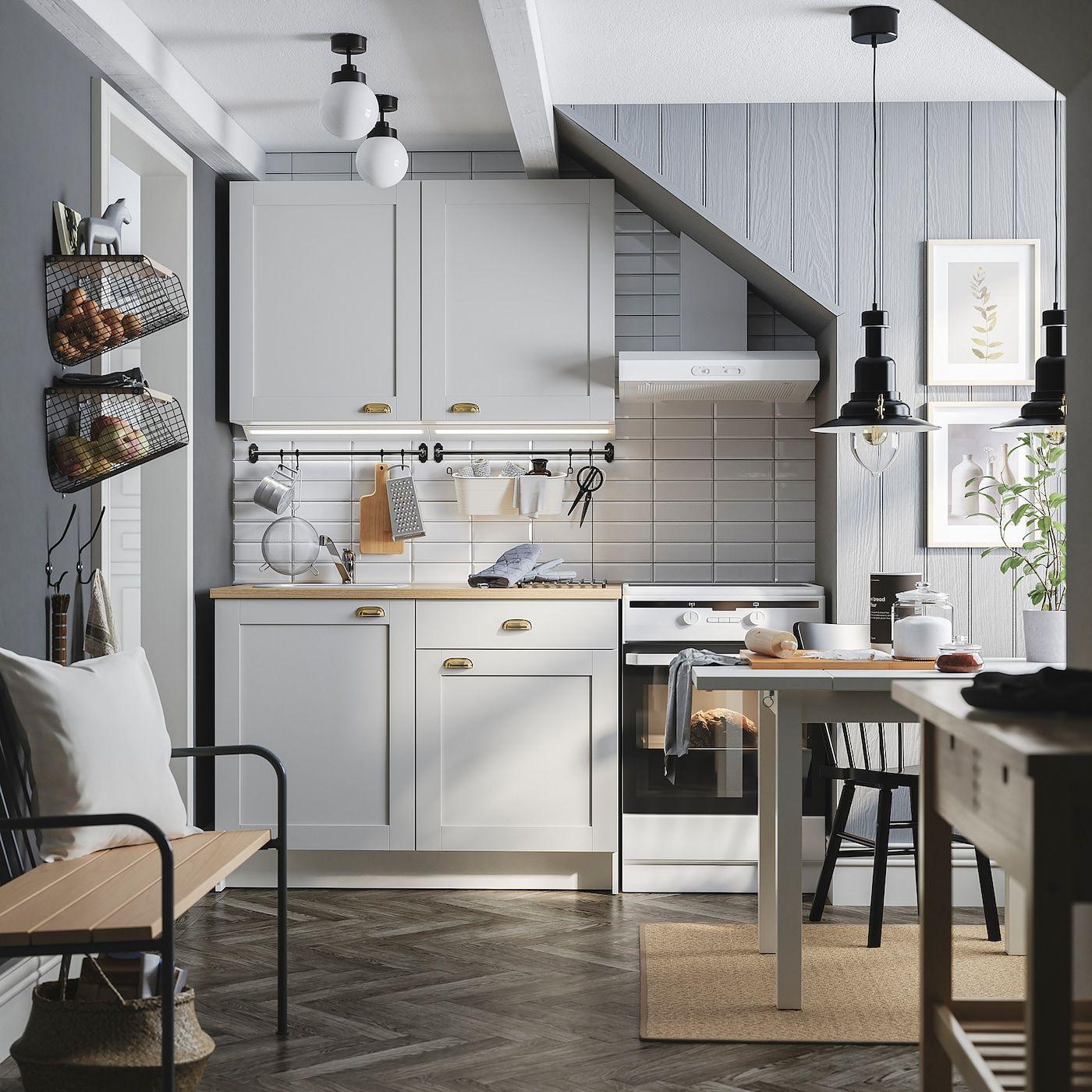 Best Knoxhult Kitchen Grey Ikea Freestanding Kitchen 400 x 300
