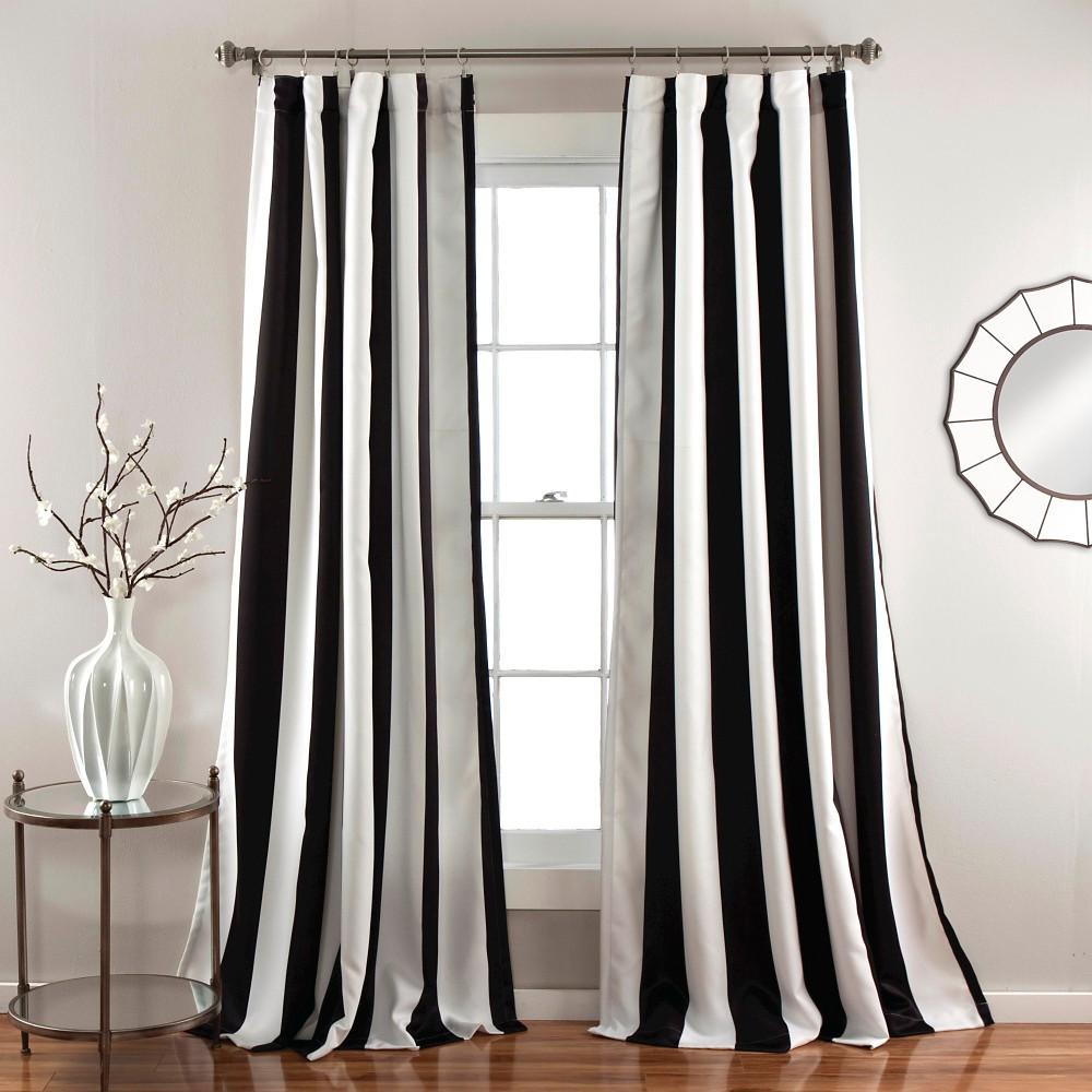 Wilbur Curtain Panels Room Darkening Set Of 2 Black