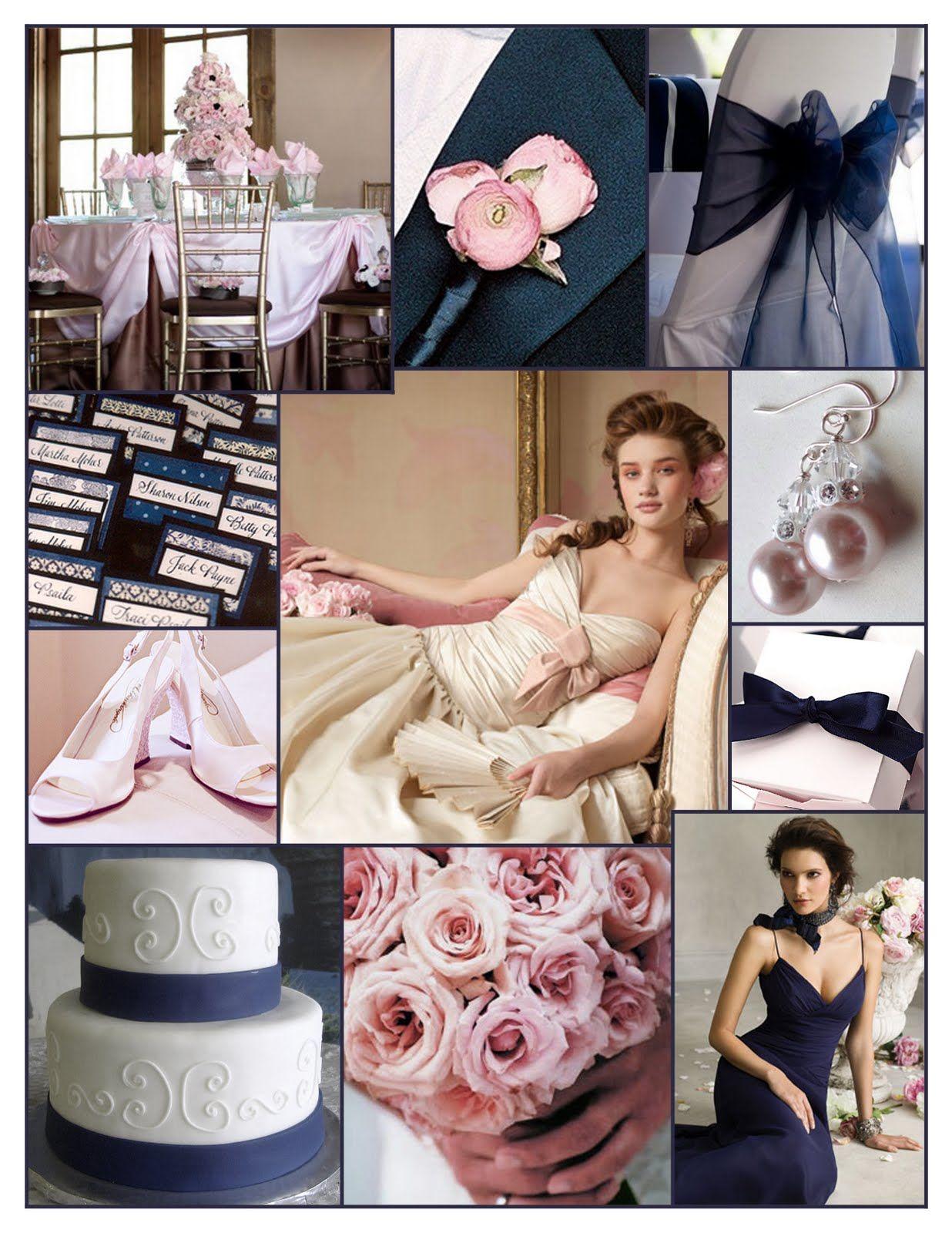 I do ... Inspiration: {Weekend Wedding} Navy Blue & Blush Pink