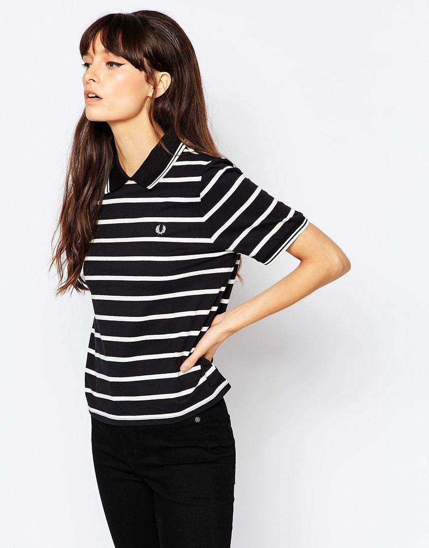 d9734000 Fred Perry Striped Polo With Zip Back | My Fashion | Fred perry ...