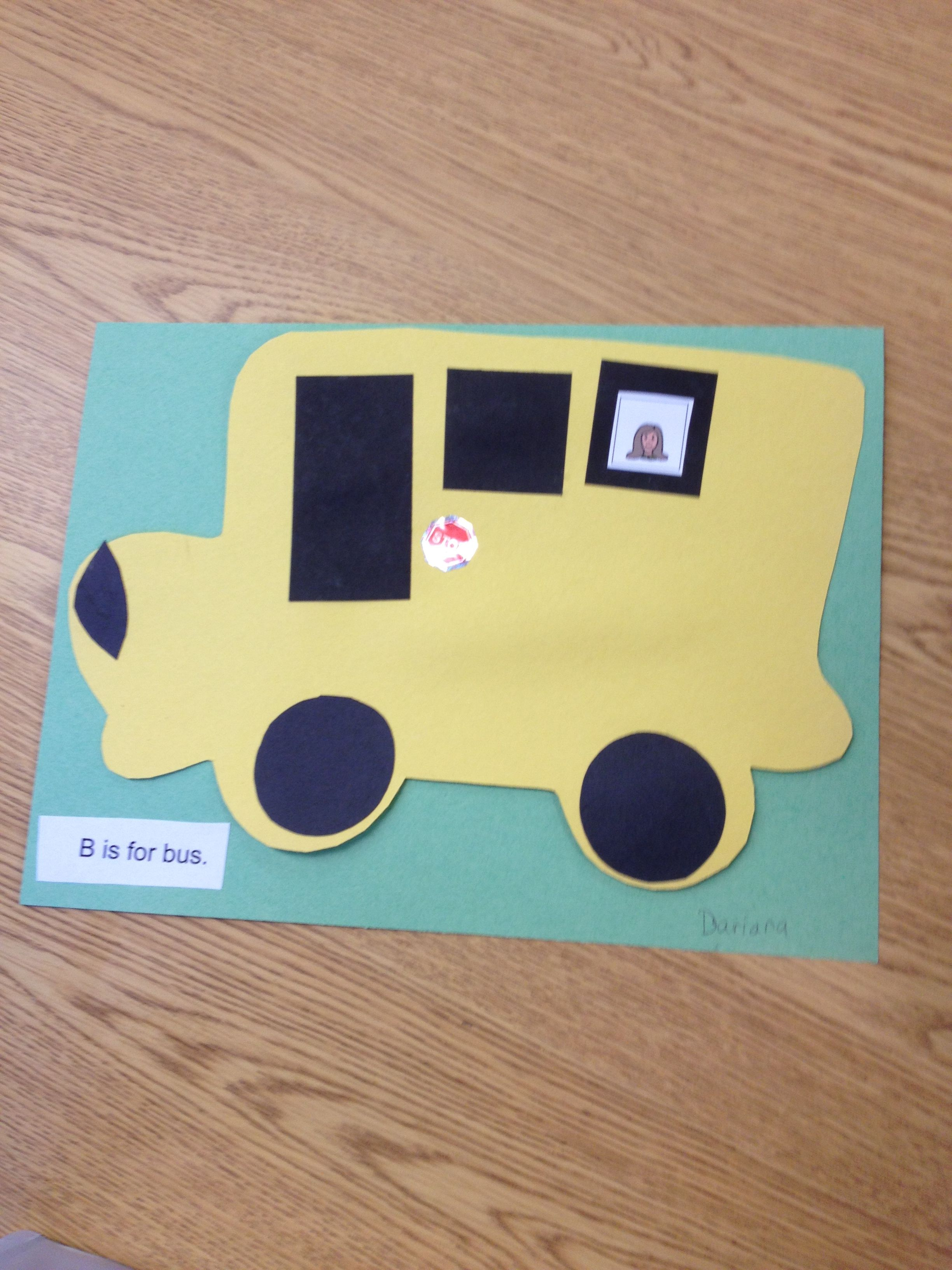 Prek Transportation Theme School Bus Craft