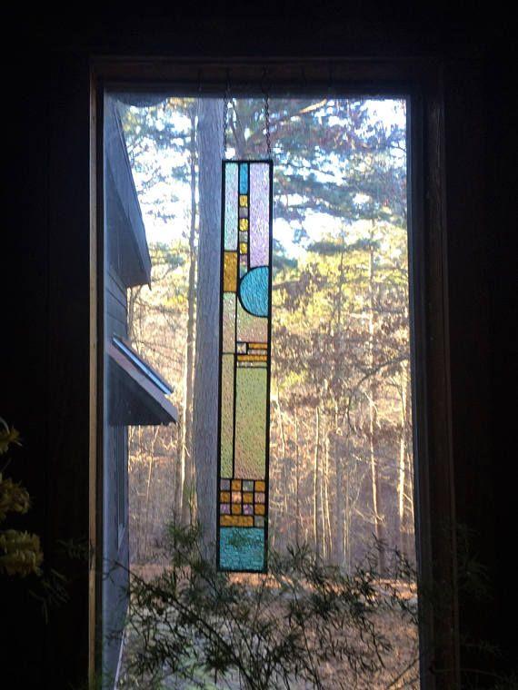 Elegant Stained Glass Panel Gift Art Suncatcher Home Decor Window
