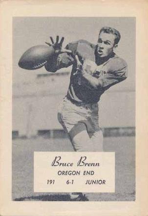 1956 Junior End Bruce Brenn Www Sportingoregon Com Junior Baseball Cards History