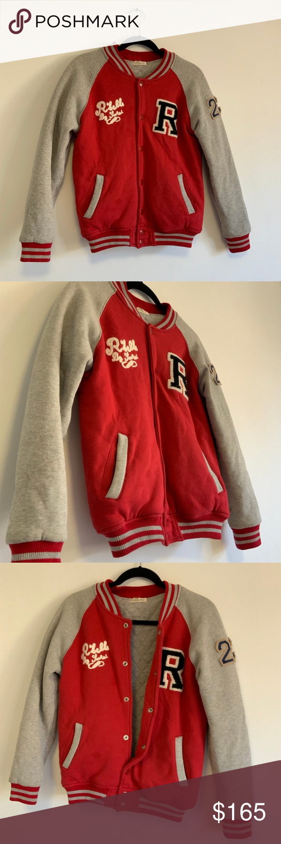Red Varsity Jacket (vintage) Comfy red vintage varsity jacket Jackets & Coats #varsityjacketoutfit