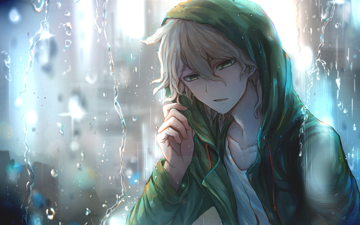 Download Wallpapers Nagito Komaeda Rain Manga Danganronpa Komaeda Nagito Besthqwallpapers Com Nagito Komaeda Danganronpa Anime