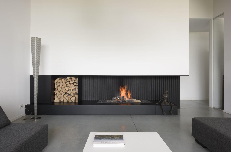 Cheminee Bois Metalfire Modele 1500 75 Avec Niche Buches Integree