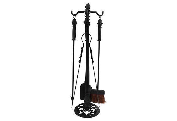 "31"" Fireplace Tools w/ Stand, Black on OneKingsLane.com"